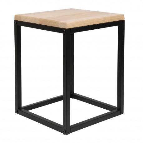 Mesa Baobab negra con tapa de madera Mesas de comedor de diseño