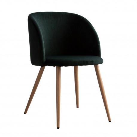 Sillón de terciopelo Piaf verde oscuro Sillas modernas de diseño