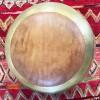 Puff marroqui martilleando con cuero PUFF ECLECTICOS
