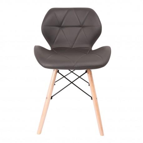 Pack de 2 sillas KADA PATAS DE MADERA Sillas modernas de diseño