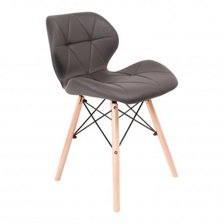 Pack de 4 sillas KADA PATAS DE MADERA Sillas modernas de diseño