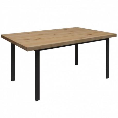 Mesa de comedor Toscana con tablero de madera oscuro y patas de hierro Mesas de comedor de diseño