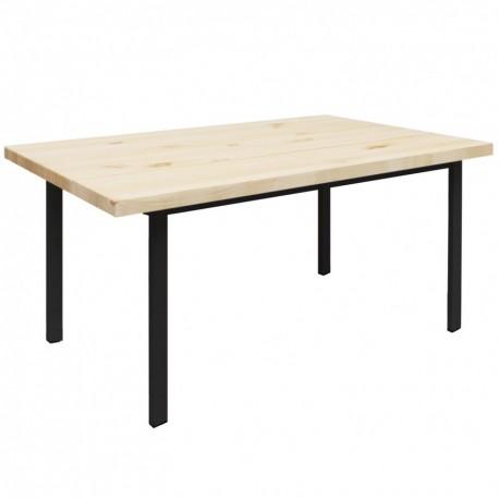 Mesa de comedor Toscana en madera con patas negras Mesas de comedor de diseño