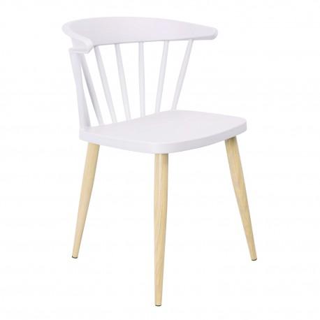 Silla Casis Gris Claro con patas de madera Sillas modernas de diseño