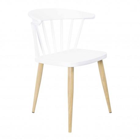 Pack de 4 Sillas Casis Blanco con patas de madera Sillas modernas de diseño