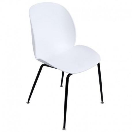 Silla Mush Blanca con patas negras Sillas modernas de diseño