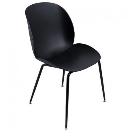 Silla Mush Negra con patas negras Sillas modernas de diseño