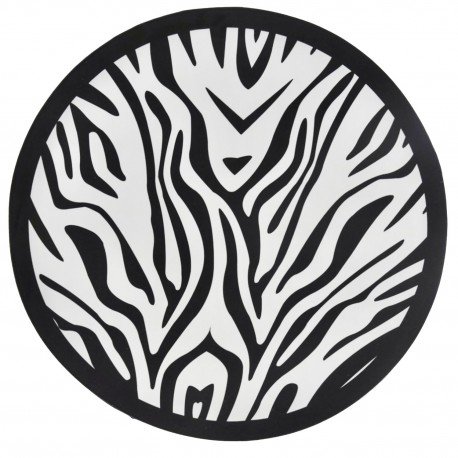 Alfombra circular vinílica Zebra Alfombras