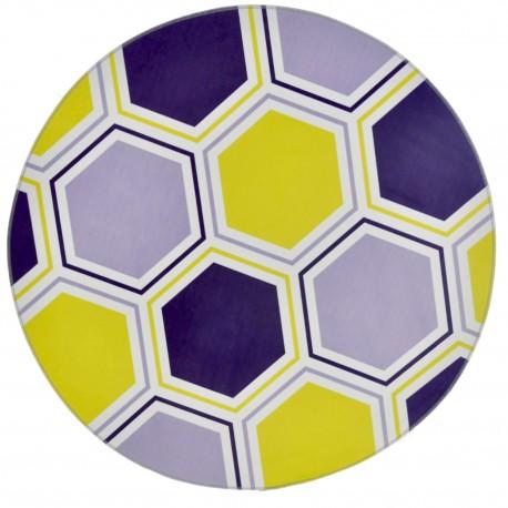 Alfombra Circular vinílica Hexagono Alfombras
