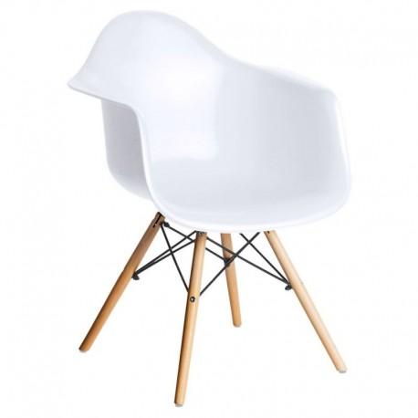 Sillón blanco patas madera Sillas modernas de diseño