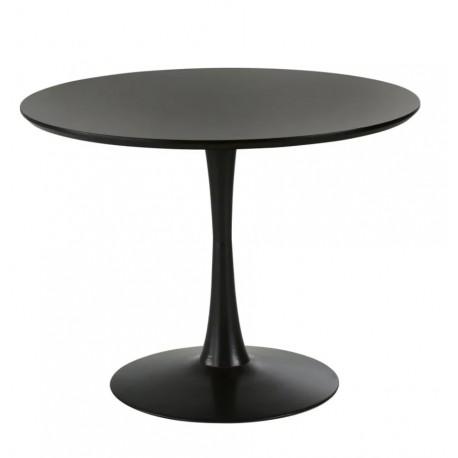 Mesa de comedor pie central negra 90 Mesas de comedor de diseño