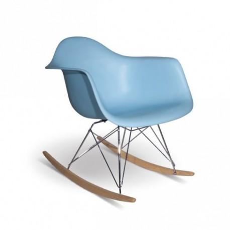 Silla Balancín mecedora azul Sillas modernas de diseño