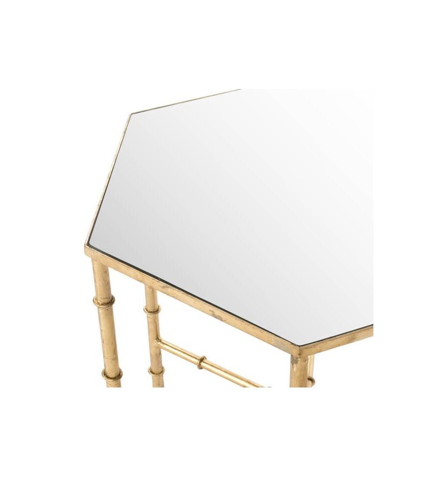 Mesa dorada auxiliar arianna accent table 50 x 43 x cm - Mesa auxiliar dorada ...
