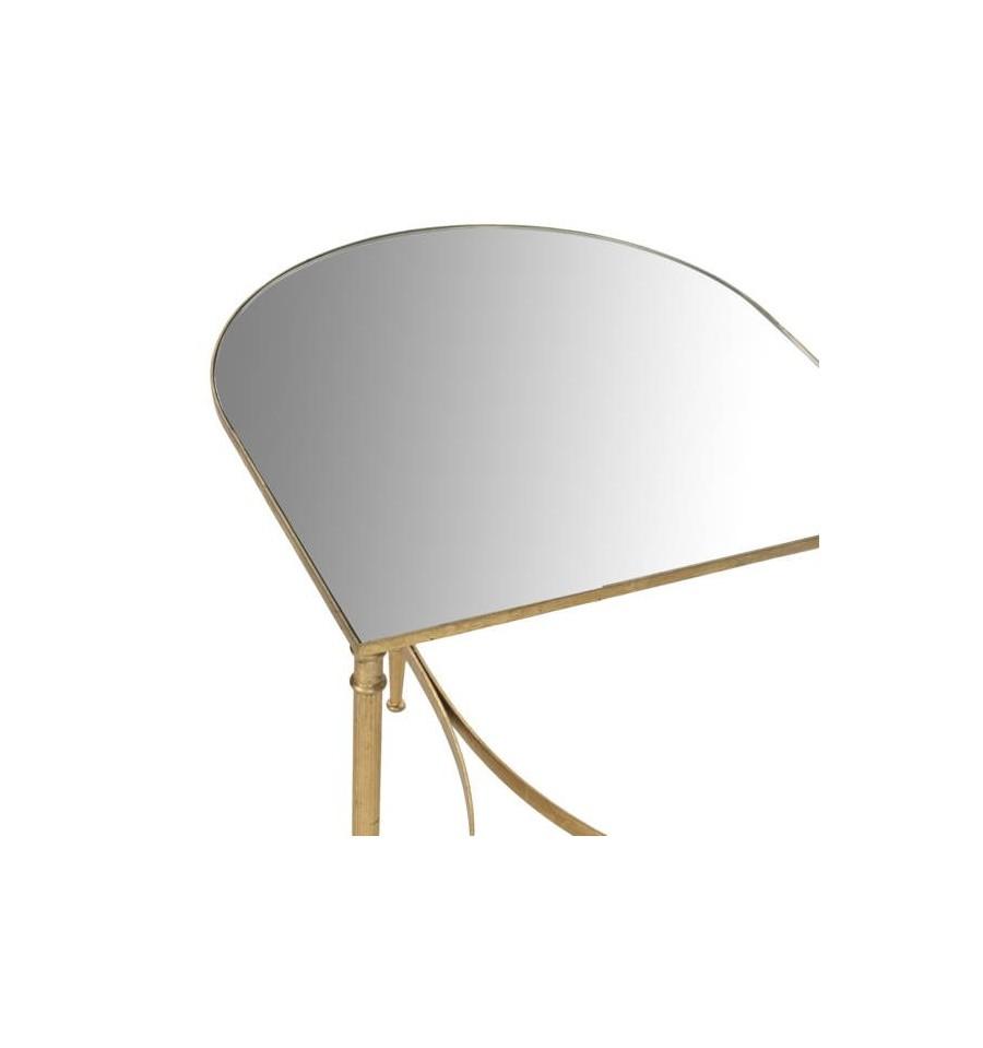 Mesa dorada auxiliar cameron accent table 50 x 45 x 50 8 cm - Mesa auxiliar dorada ...