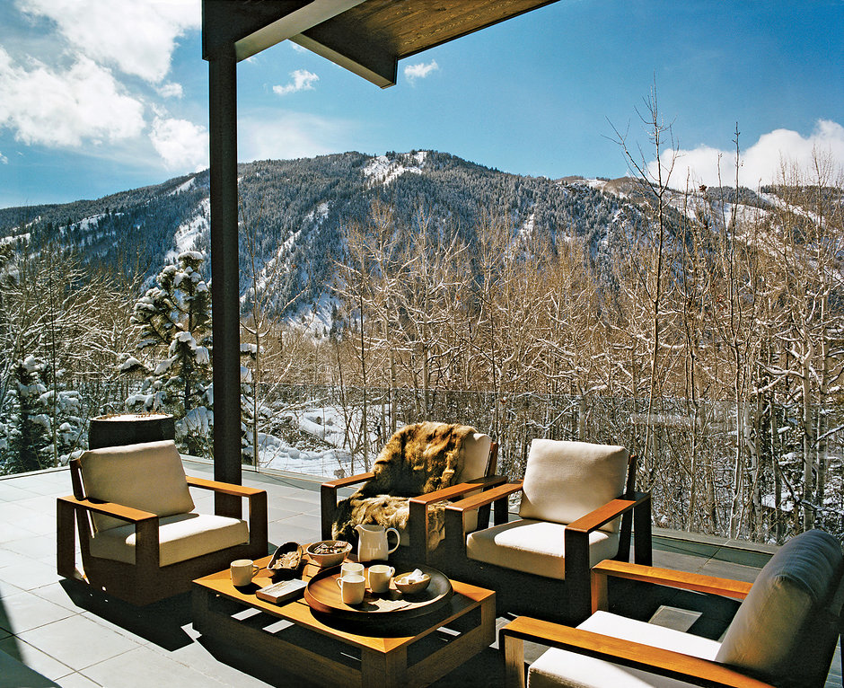 Decoraci n de invierno para hogares de alta monta a for Aspen style home designs