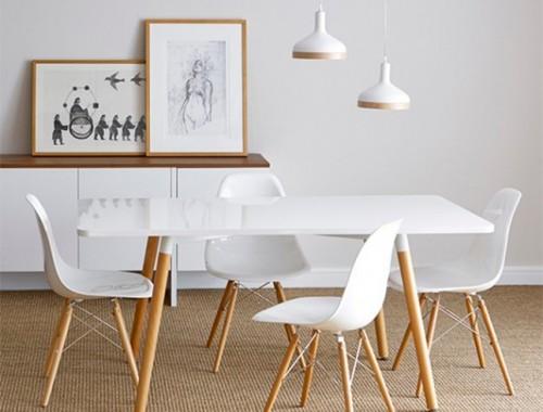 Mesa de comedor estilo nórdico