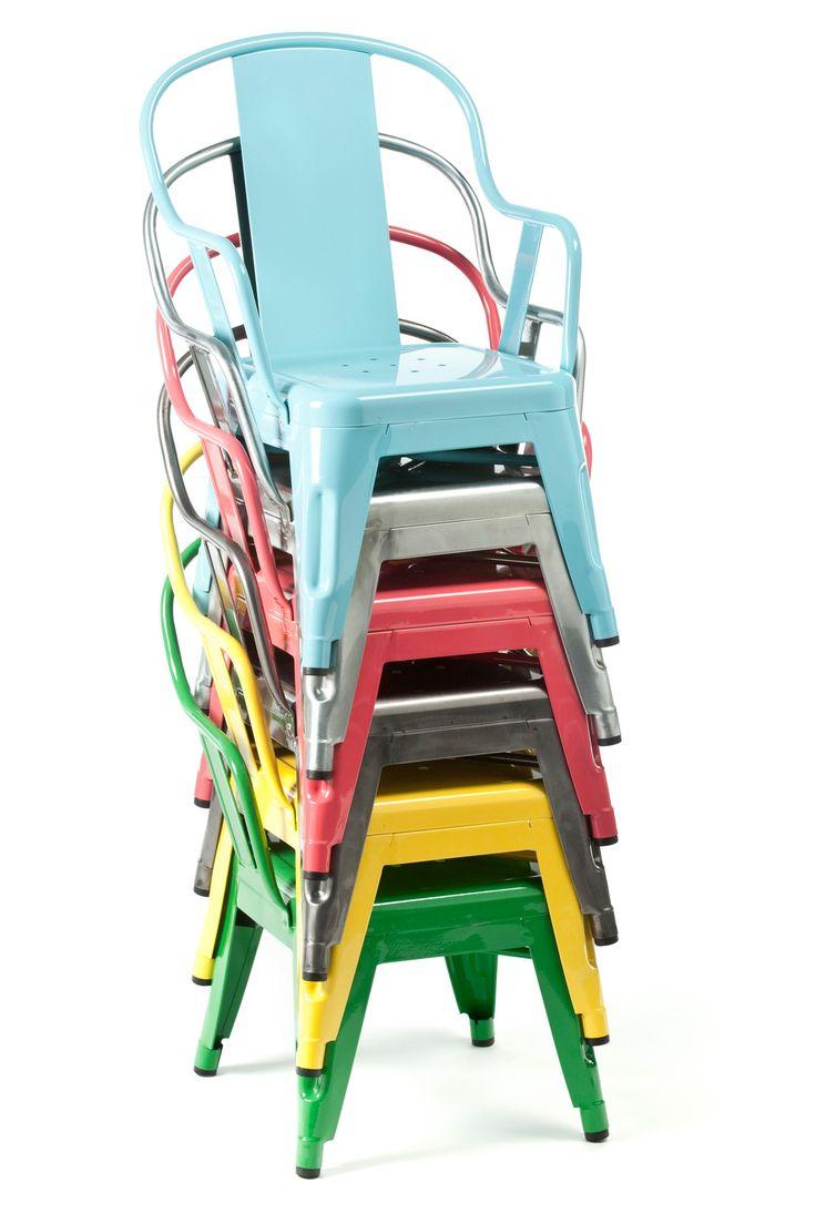 El must del estilo industrial sillas met licas vintage - Silla tolix ...