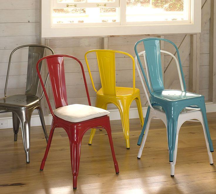 El must del estilo industrial sillas met licas vintage for Sillas metalicas