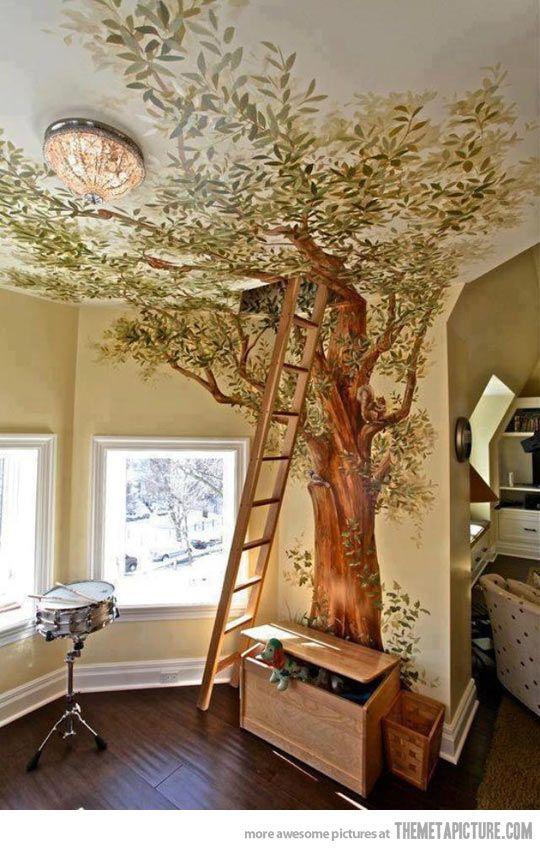 Decorar Con Arboles Y Naturalizar Espacios Del Bosque A Tu Casa - Arboles-de-decoracion