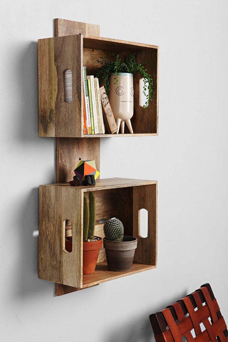 Diy estanter as con cajas de fruta de madera for Estanterias con cajas de madera
