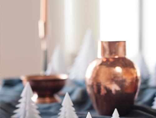 DIY Navidad arbolitos de Navidad decoración interiorismo handmade