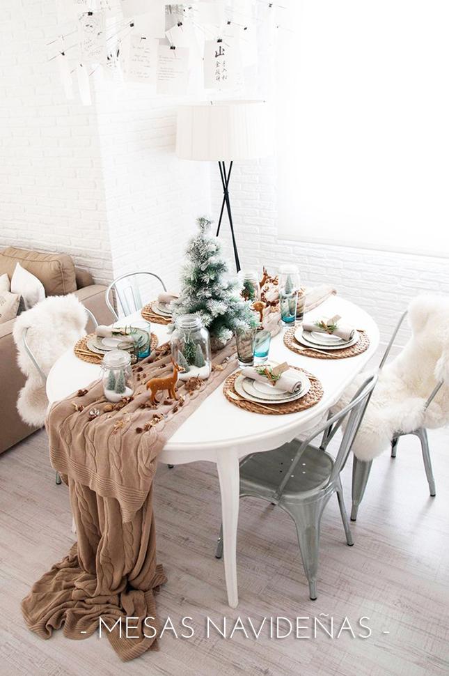 Decoraci n de mesas navide as escoge la silla perfecta - Mesa navidena decoracion ...
