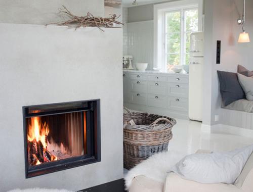 Casas con chimenea decoración ideas interiorismo IconsCorner