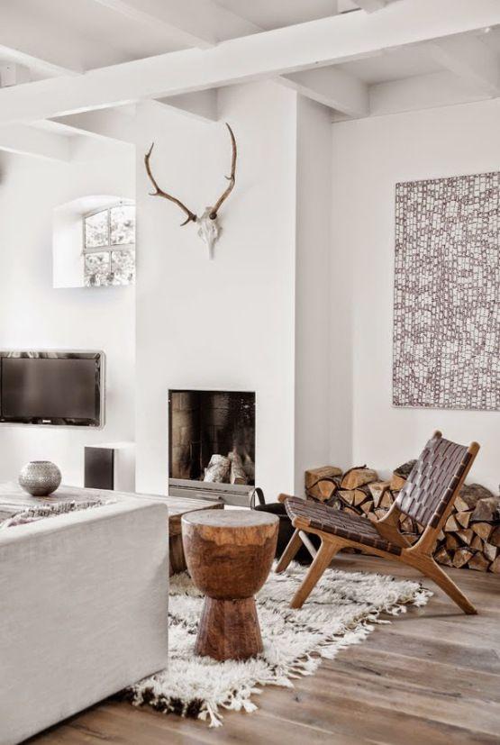 Casas con chimenea insp rate y vive tu sue o de invierno for Interiorismo rustico