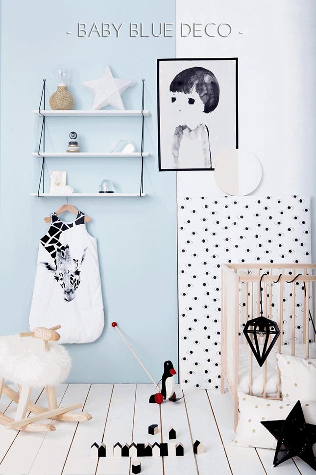 Decoración azul bebé interiorismo IconsCorner