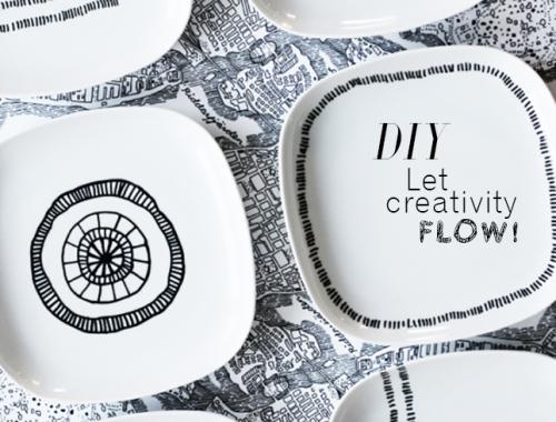 DIY Pintar Vajilla decoración IconsCorner
