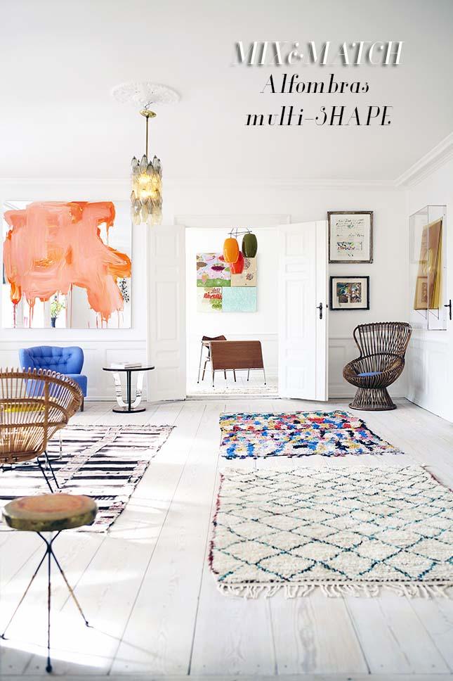 Mix match combinar alfombras apuesta todo al multi formato - Alfombras para salones ...