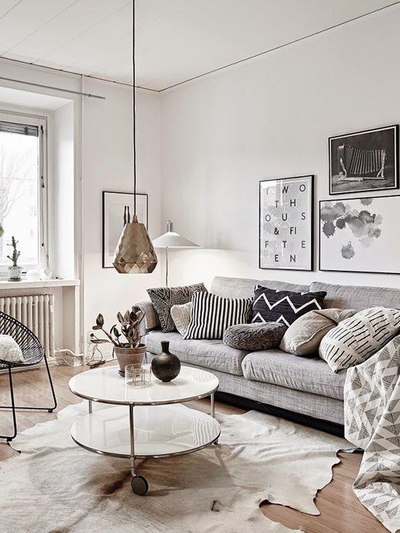Trend alert decoraci n blanco negro gris - Salones estilo nordico ...