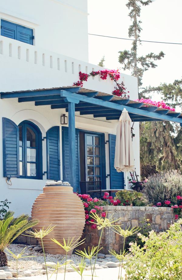 Viaje deco a las islas griegas mediterr neo en blanco y azul for Casas en islas griegas