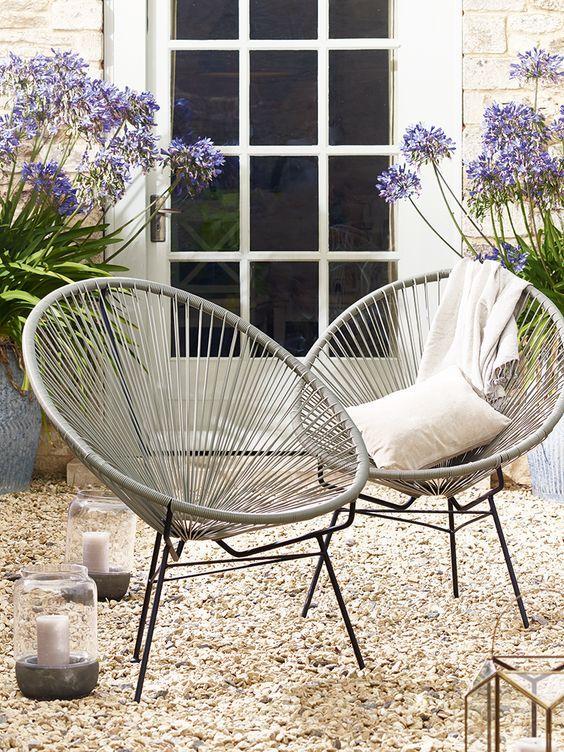 Cojines para sillas cojines tnicos para exterior for Sillas para fuente de soda
