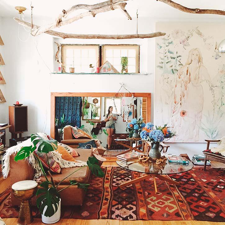 Casa bohemia de emily katz decoraci n bohemia for Decoracion bohemia vintage