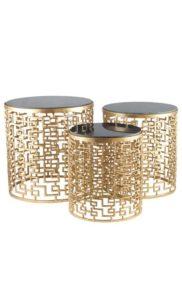 set-tres-mesas-auxiliares-con-base-dorada-y-marmol-negro