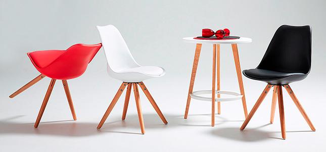 sillas de diseño nórdico en colores