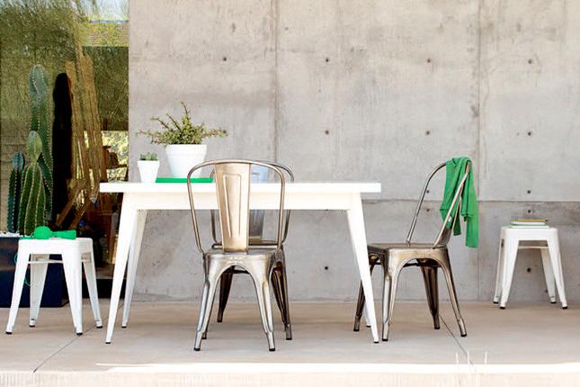 sillas y taburetes metálicos vintage