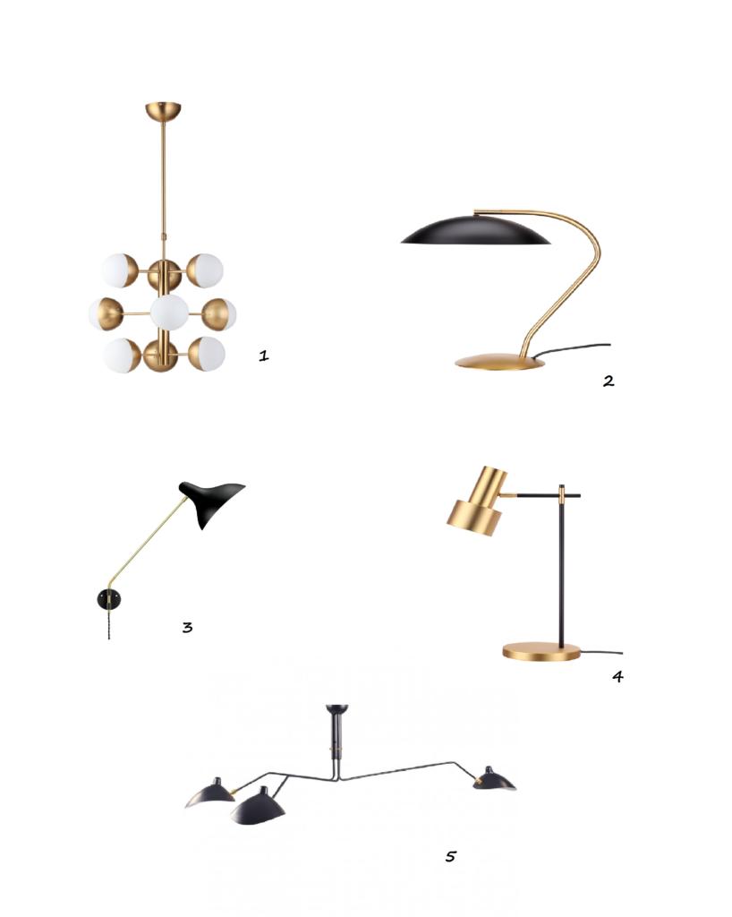 lámparas diseño estilo años 50 Mid Century IconsCorner