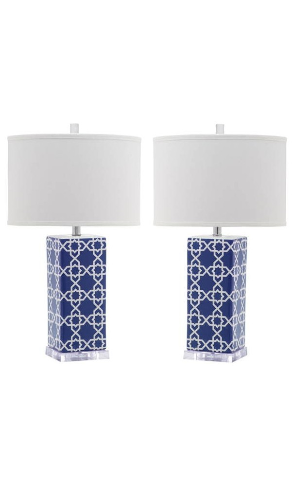 Lámpara de mesa con base cerámica Reagan