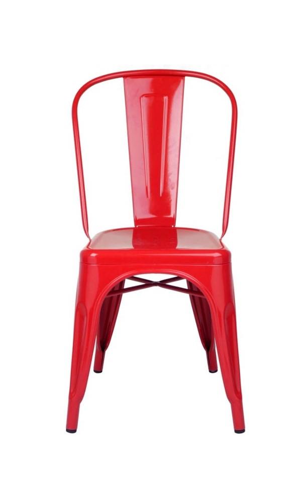 Silla vintage roja
