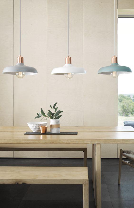 lámparas de techo en línea, aplicación en cocina