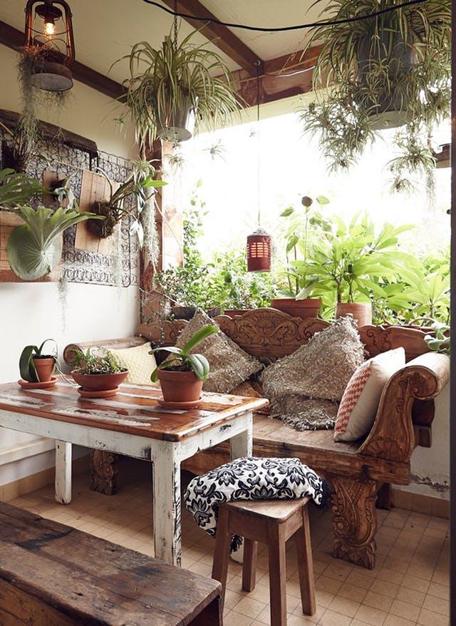 estancia de estilo decorativo bohemio