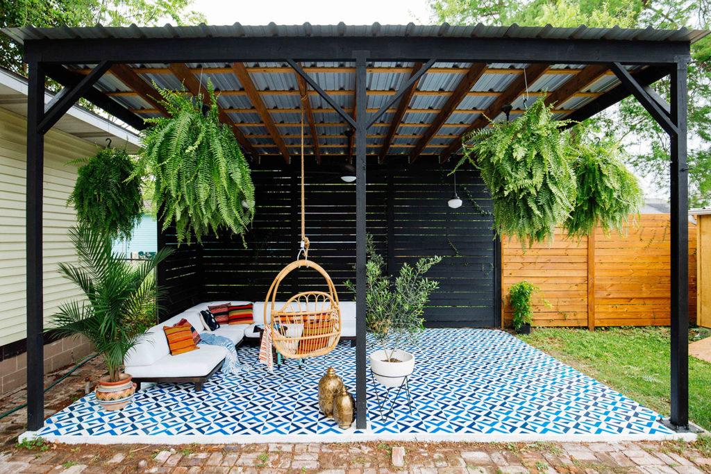 cómo decorar un patio