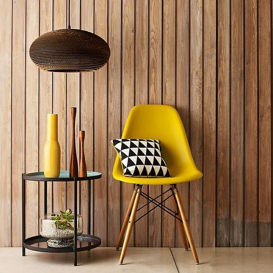 sillas de diseño amarilla