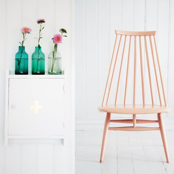 silla Fanett Mademoiselle rosada