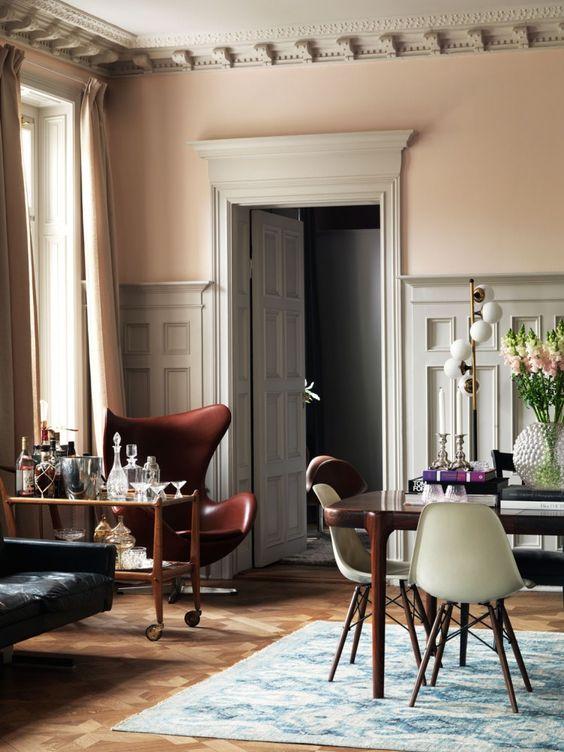 sillas de comedor de diseño color verde oliva