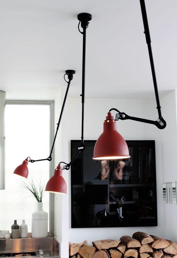 3 lámparas industriales Bernard-Albin Gras