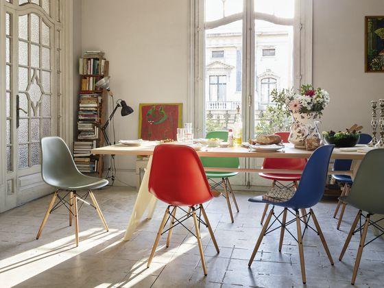 sillas de comedor de diseño multicolores