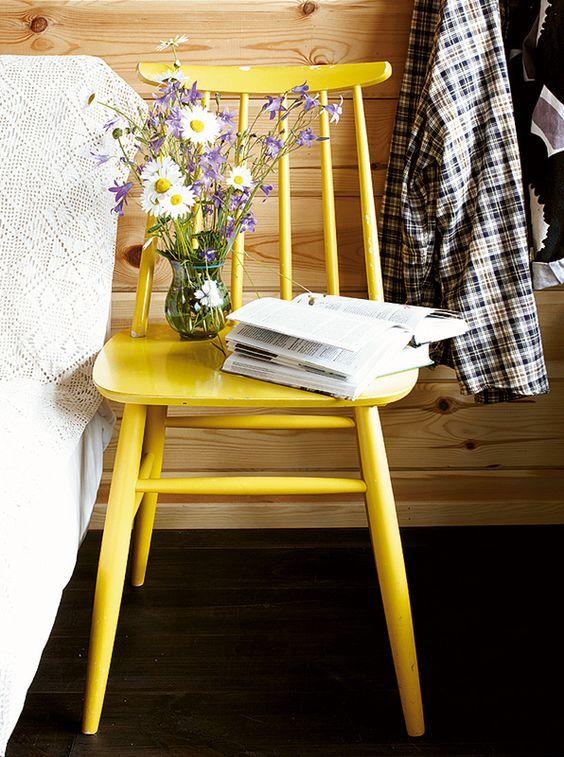 silla Fanett amarilla